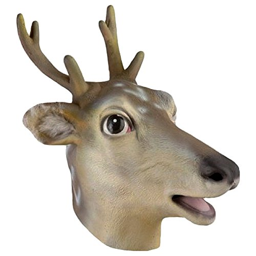 Adult Deer Antler Latex Costume Mask