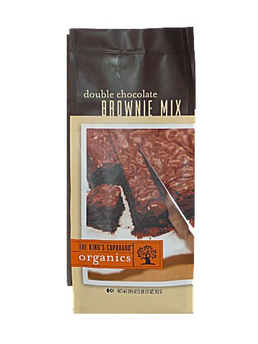 Organic Double Chocolate Brownie Mix, The King's Cupboard 19.5-Ounce Bags