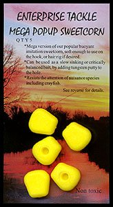 Enterprise Tackle Mega Pop-Up Sweetcorn Yellow Imitation Bait 5 in Pack by Enterprise