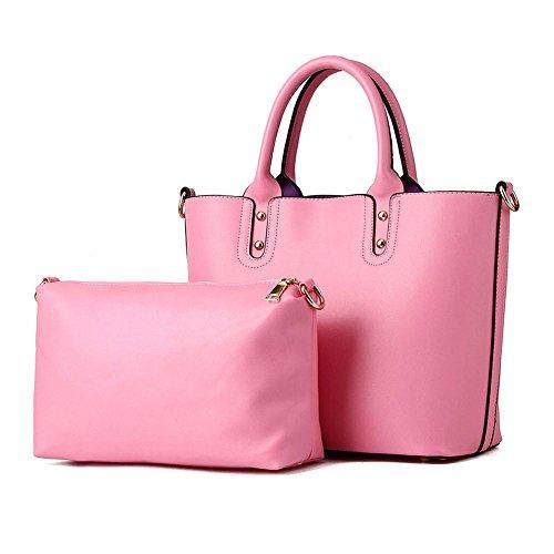 koson-man-damen-2-in-1-sling-vintage-tote-taschen-top-griff-handtasche-rose-pink-kmukhb376