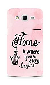 AMEZ home is where your story begins Back Cover For Samsung Galaxy Grand Max