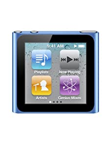 Apple iPod nano MP3-Player 16 GB (6. Generation, Multi-touch Display) blau