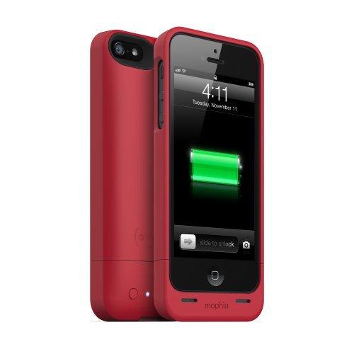 並行輸入品mophie juice pack helium SPECTRUM COLLECTION for iPhone 5 (1500mAh) Red