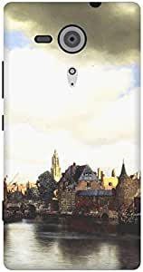 The Racoon Grip View of Delft hard plastic printed back case / cover for Sony Xperia SP