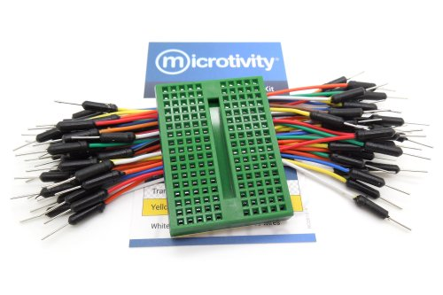 microtivity IB177 170-point Mini Breadboard for Arduino w/ Jumper Wires (Green Edition)