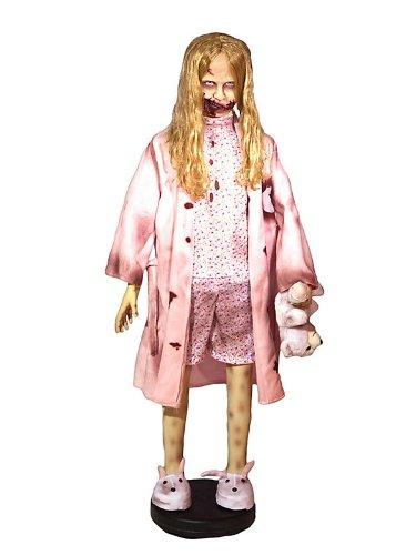 Lifesize Zombie Girl with Teddy Bear