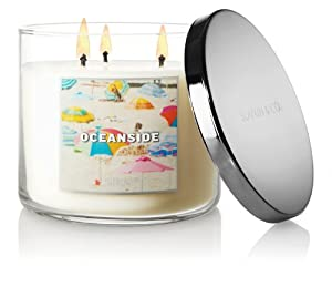 Bath & Body Works Slatkin and Co - 3 Wick Scented 14.5 oz Candle - OCEANSIDE