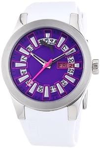 Puma Time Damen-Armbanduhr Fan Ladies Silver Purple Analog Quarz Plastik PU102402002