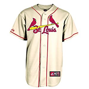 St. Louis Cardinals Jersey: Alternate Ivory Replica Mlb Jersey by Majestic