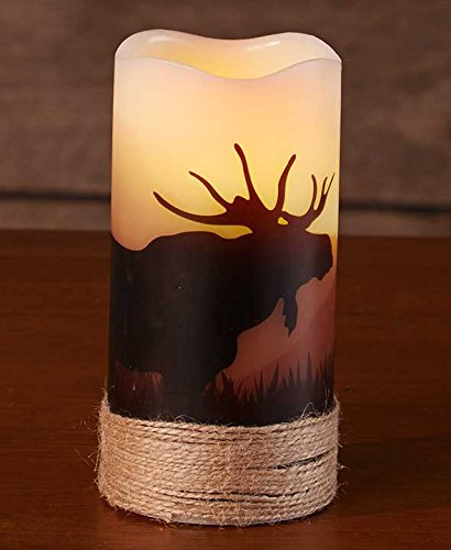 LED Wilderness Silhouette Candles- Moose
