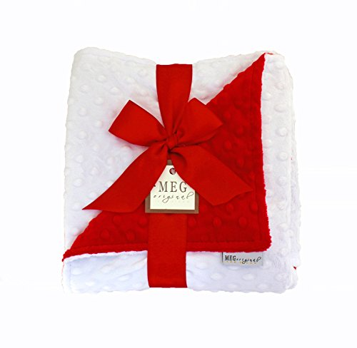 MEG Original Red & White Minky Dot Baby Blanket, 362