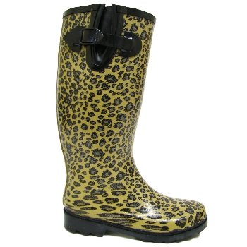 Leopard Glitter Wellies Wellington Boots