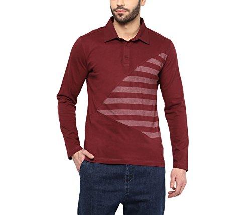 Hypernation-Maroon-Color-Cotton-Polo-T-shirt