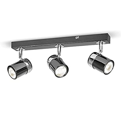 Modern 3 Way Chrome Straight Bar Ceiling Spotlight