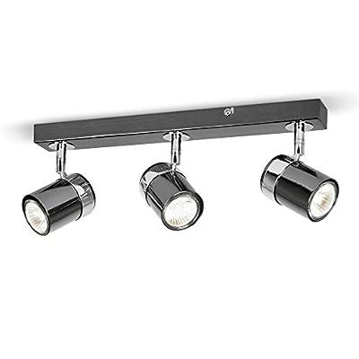 Modern 3 Way Chrome Straight Bar Ceiling Spotlight by MiniSun - Read Reviews