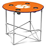 NCAA Clemson Tigers Round Tailgating Table
