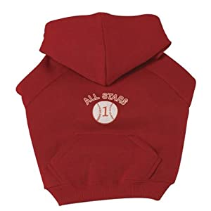 Zack Zoey Polystercotton Dog Sports Sweatshirt Xx-large Baseball 30-inch by PetEdge Dealer Services