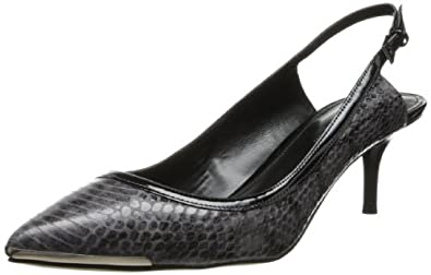 Enzo Angiolini Women's Garrac6 Dress Pump,Black/Black Leather,5.5 M US