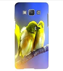 ColourCraft Love Birds Design Back Case Cover for SAMSUNG GALAXY E5