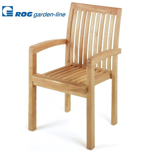 tl8030 teak stuhl daiquiri stapelbar mit armlehne. Black Bedroom Furniture Sets. Home Design Ideas