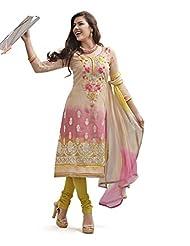 Nirali Women's Cotton Chiffon Unstitched Dress Material - B00L2EW3W6
