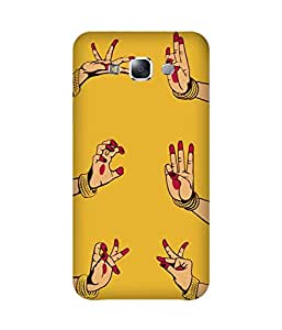 Indian Dance Hand-2 Samsung Galaxy E7 Printed Back Cover