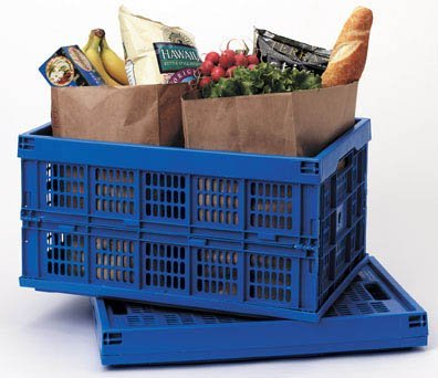 Collapsible Crate - Blue Blue  10 5 H x 20 75 W x 14 DB0000E2F8V