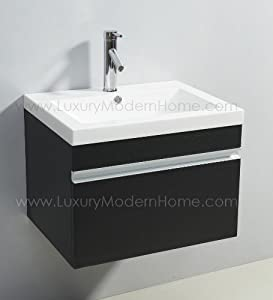 Buy a slow drain bathroom sink more photos to slow drain bathroom sink - Vs Alexius Black Small Vanity Sink 24 Quot Inch Floating