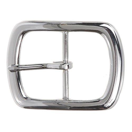 "1 1/2"" (38 mm) Nickel Free Center Bar Single Prong Rectangular Belt Buckle Color: Silver"