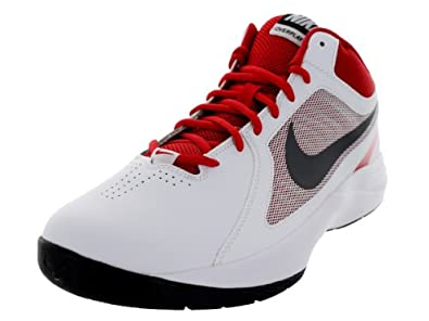 Nike Men's The Overplay VIII White/Mtlc Drk Gry/Unvrsty Basketball Shoe 7.5 Men US