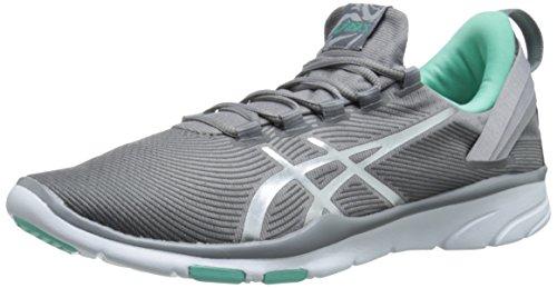 ASICS Women's Gel Fit Sana 2 Fitness Shoe, Frost/Lightning/Bermuda, 8.5 M US