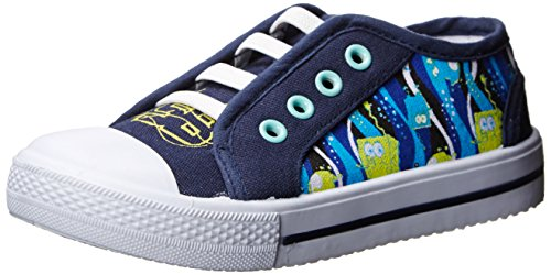 Nickelodeon Dora The Explorer Sponge Bob Printed Canvas Sandal (Toddler),Navy,10 M Us Toddler