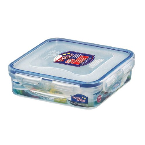 Lock Lock 20-Fluid Ounce Square Food Container Short 2-1 2-CupB0000AN4CN : image