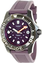 Victorinox Dive Master 500 Purple Dial Purple Rubber Ladies Watch 241558.1