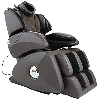 Osaki OS-7075RB Executive ZERO GRAVITY S-Track Massage Chair, Brown, Synthetic Leather, Designed with a set of S-track movable intelligent massage robot , special focus on the neck, shoulder and lumbar massage according to body curve, Automatically detect