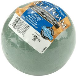 "Best Review Of FloraCraft Wet Foam Ball: 4"" Green"