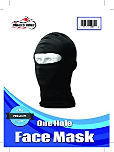 Thin Cotton Spandex Motorcycle Balaclava Face Mask, Premium Quality, Helmet Liner, Ski Mask, Dust Mask, Black Tactical Balaclava from The Bikers Zone