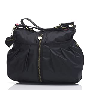 Babymel Amanda Diaper Bag - Zipper black from Conception Showroom/Baby Mel
