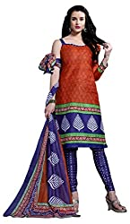 Ganesha Women's Cotton Unstitched Dress Material (Multi-Coloured)