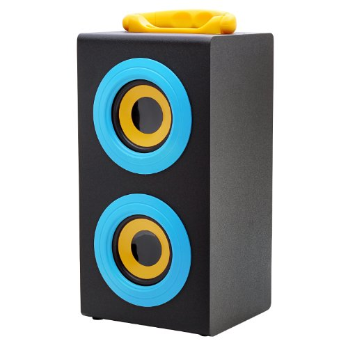 Vibe Sound Vs-577C-Blu Portable Fashion Retro Wood Speakers