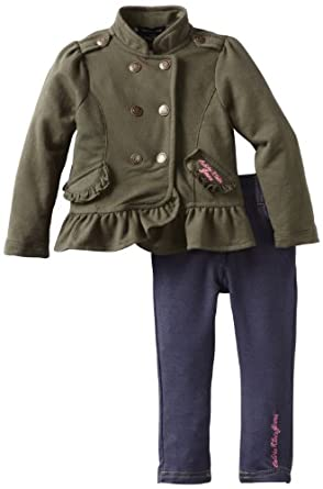 Calvin Klein Baby-girls Infant Jacket with Denim Pant, Assorted, 18 Months