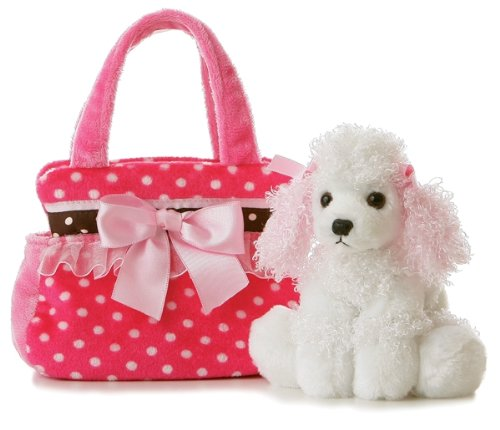 Aurora Plush Fancy Pals Pet Carrier Fancy Pink Polka Dot - 1