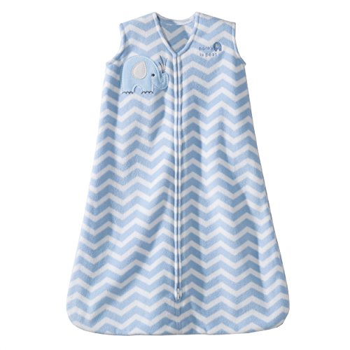 Halo SleepSack Micro-Fleece Wearable Blanket, Blue Zig Zag, Small