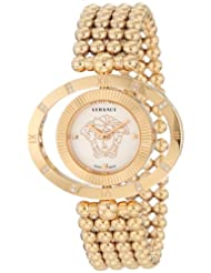 Versace Women's 91Q81D002 S080 Eon Rose Gold Ion-Plating and Diamond Reversible Bezel Watch