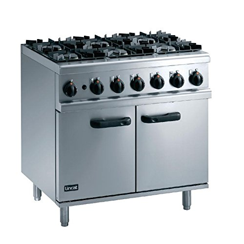 Heavy Duty 45.6kW Natural Gas Oven Range Commercial Kitchen Restaurant Cafe Chef