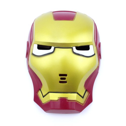 Yiding Mask for Iron Man Mask LED Light up Movie Masks Halloween Toy Cosplay