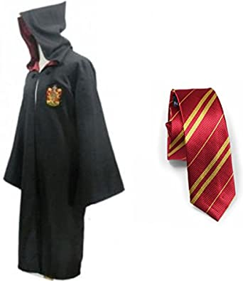 Harry Potter Gryffindor/slytherin/ravenclaw/hufflepuff Robe Cloak with Tie
