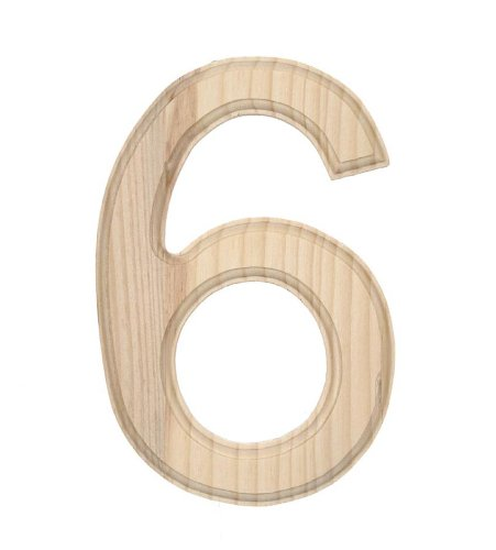 Darice 0992 6 Decorative Wood Number 6 6 Inch Home