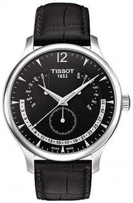 Tissot Men's T063.637.16.057.00 Black Dial Watch by Tissot