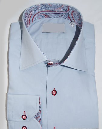 Jermyn street shirts Mens Blue regular Fit formal Paisley Shirt - Small